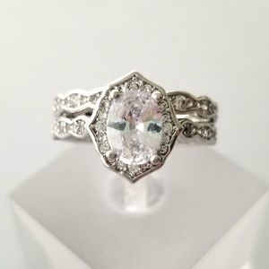 Antique Style Sterling Ring Set